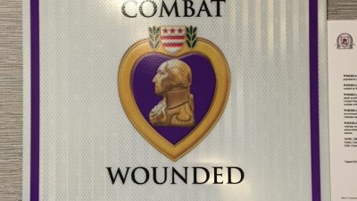Rolling Hills Charter Named Purple Heart School