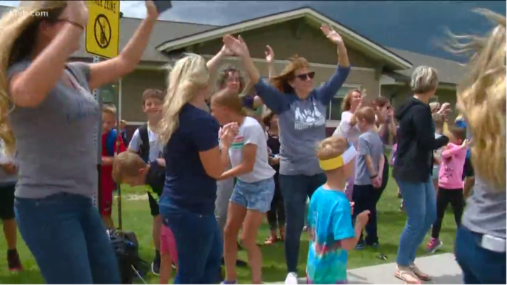 Eagle charter school celebrates start of summer break with dance party